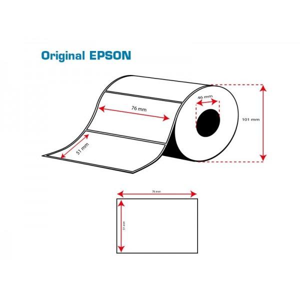 ROLLO Etiquetas Inkjet Mate Premium 76mmx 51mm ( 650 Etiq.)
