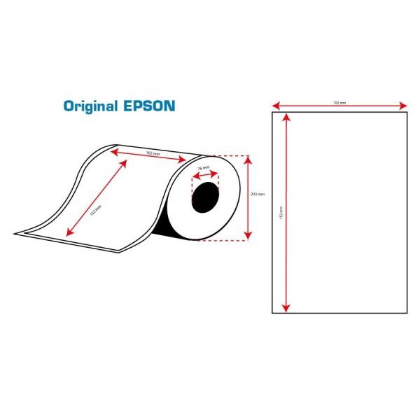 ROLLO Etiquetas Inkjet Alto Brillo 102mmx152mm ( 800 Etiq.)