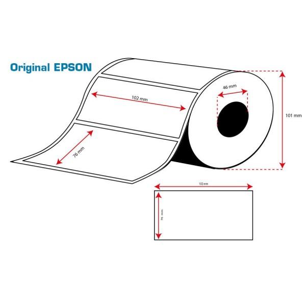ROLLO Etiquetas Inkjet Alto Brillo 102mmx 76mm ( 415 Etiq.)