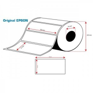 ROLLO Etiquetas Inkjet Alto Brillo 102mmx 51mm (2310 Etiq.)