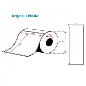 ROLLO Etiquetas Inkjet Mate PE 76mmx127mm ( 220 Etiq.)