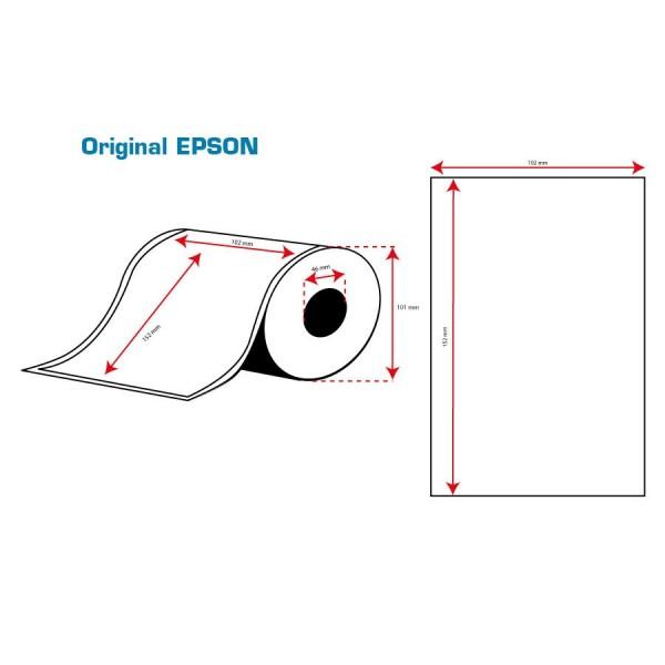 ROLLO Etiquetas Inkjet Mate PE 102mmx152mm ( 185 Etiq.)