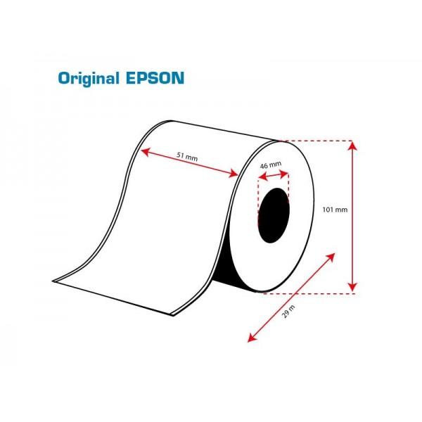 ROLLO Etiquetas Inkjet Mate PE Continuo 51mmx 29m ( 29 m.)