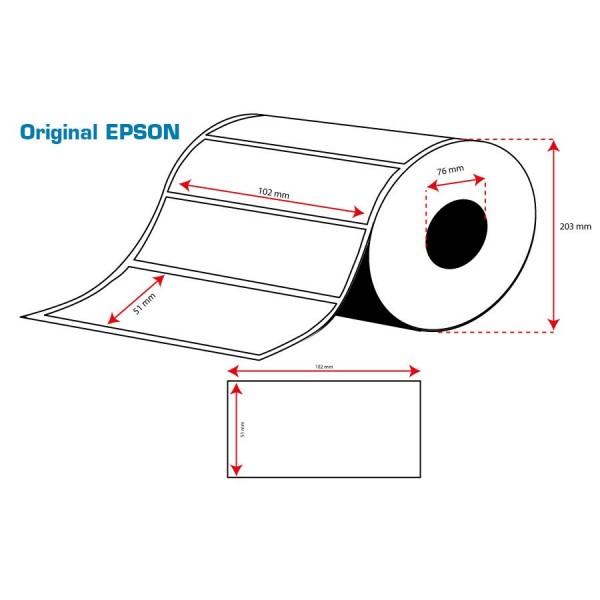 ROLLO Etiquetas Inkjet Mate PE 102mmx 51mm (2310 Etiq.)