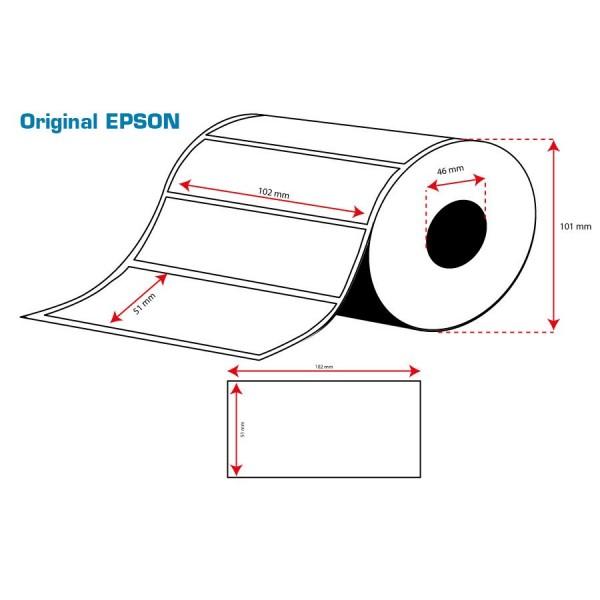 ROLLO Etiquetas Inkjet Alto Brillo 102mmx 51mm ( 610 Etiq.)