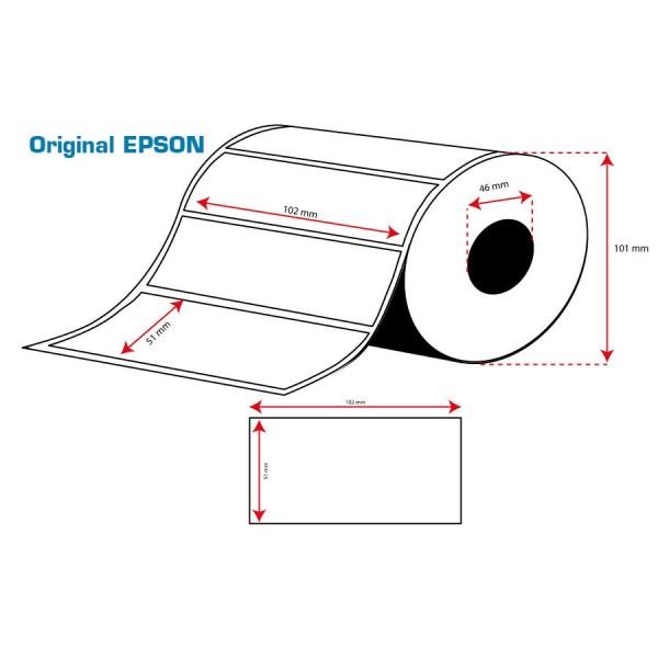 ROLLO Etiquetas Inkjet Mate PE 102mmx 51mm ( 535 Etiq.)