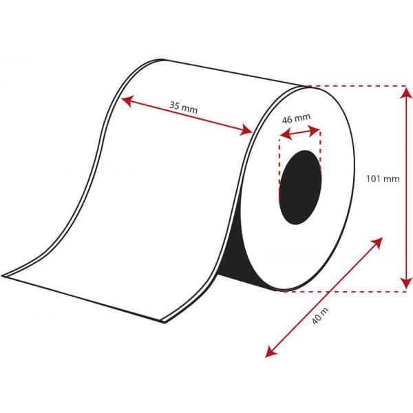 Rollo Etiquetas Inkjet Alto Brillo Continuo 35mmx 40m ( 40 m.)