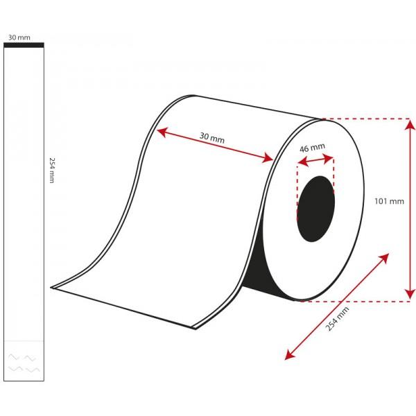 Rollo Brazaletes Sanitarios/Eventos 30mmx254mm ( 100 Etiq.)