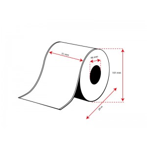 ROLLO Etiquetas Inkjet Mate PP Continuo 51mmx 29m ( 29 m.)
