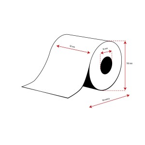 Rollo Cartulina Inkjet Mate Continuo 50mmx90m ( 90 m.)
