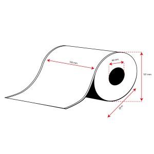 Rollo Etiquetas Inkjet Polipropileno Mate Continuo 102mmx 29m ( 29 m.)