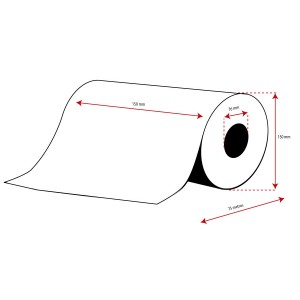 Rollo Etiquetas Inkjet Polipropileno Mate Continuo 150mmx 75m ( 75 m.)