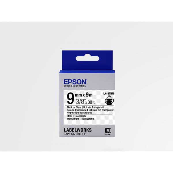 Cinta Transparente Epson LK-3TBN Negra Transparente/Transparente 9mm (9 m)