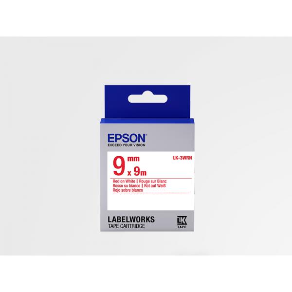 Cinta Estándar Epson LK-3WRN Roja/Blanca 9mm (9 m)
