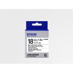 Cartucho de Etiquetas Magnéticas Epson LK-5WB2 Negro/Blanco 18mm (1.5 m)