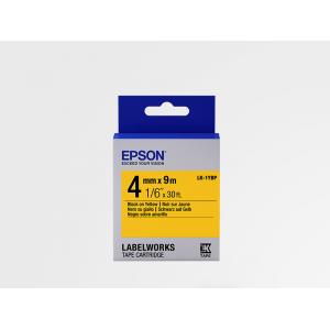 Cartucho de Etiquetas Color Pastel de Epson LK-1YBP Negro/Amarillo Pastel 4mm (9 m)