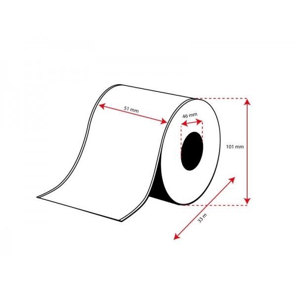 Rollo Etiquetas Inkjet Alto Brillo Continuo 51mmx 33m ( 33 m.)