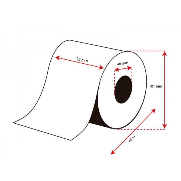 Rollo Etiquetas Inkjet Papel Mate Continuo 35mmx50m (50 m.)
