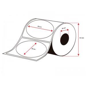 Rollo Etiquetas Inkjet Alto Brillo 80mm diámetro ( 500 Etiq.)