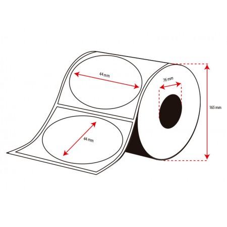 Rollo Etiquetas Inkjet Alto Brillo 44mm diámetro (2000 Etiq.)