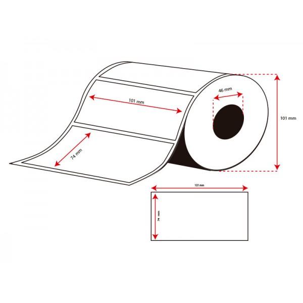 Rollo Etiquetas Inkjet Alto Brillo Continuo 101mmx74mm (415 Etiq.)